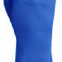 Guante satinado azul